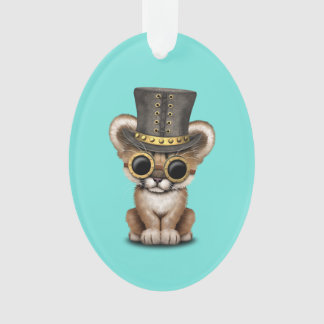 Cute Steampunk Baby Cougar Cub Ornament