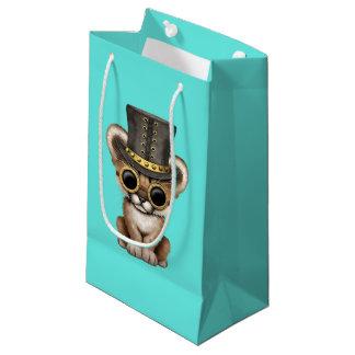 Cute Steampunk Baby Cougar Cub Small Gift Bag