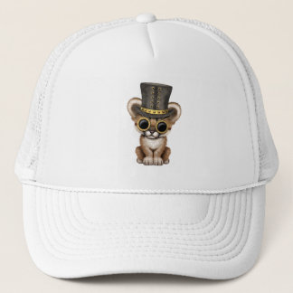 Cute Steampunk Baby Cougar Cub Trucker Hat