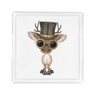 Cute Steampunk Baby Deer Acrylic Tray