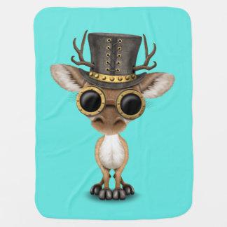 Cute Steampunk Baby Deer Baby Blanket