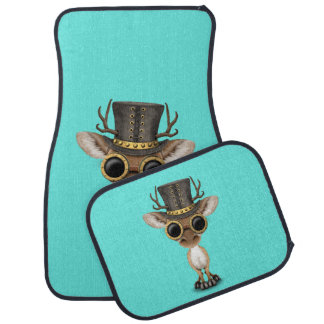 Cute Steampunk Baby Deer Car Mat