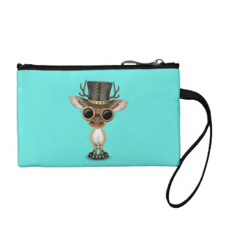 Cute Steampunk Baby Deer Coin Purse