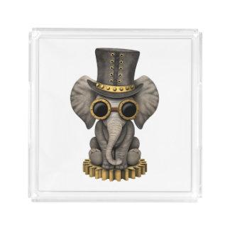 Cute Steampunk Baby Elephant Cub Acrylic Tray