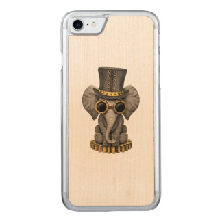 Cute Steampunk Baby Elephant Cub Carved iPhone 8/7 Case