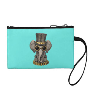 Cute Steampunk Baby Elephant Cub Coin Purse