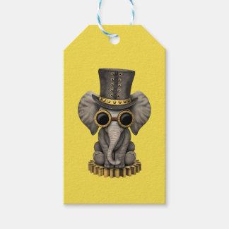 Cute Steampunk Baby Elephant Cub Gift Tags