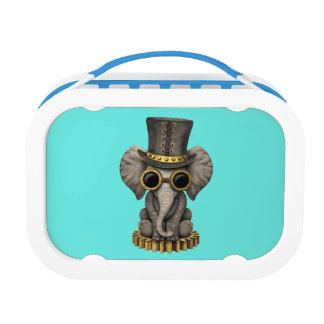 Cute Steampunk Baby Elephant Cub Lunch Box
