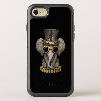 Cute Steampunk Baby Elephant Cub OtterBox Symmetry iPhone 8/7 Case