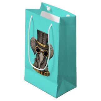 Cute Steampunk Baby Elephant Cub Small Gift Bag