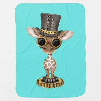 Cute Steampunk Baby Giraffe Baby Blanket