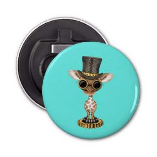 Cute Steampunk Baby Giraffe Bottle Opener