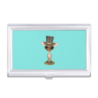 Cute Steampunk Baby Giraffe Business Card Holder