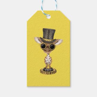 Cute Steampunk Baby Giraffe Gift Tags