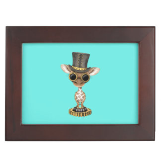 Cute Steampunk Baby Giraffe Keepsake Box