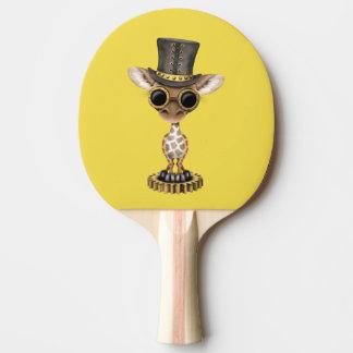Cute Steampunk Baby Giraffe Ping Pong Paddle