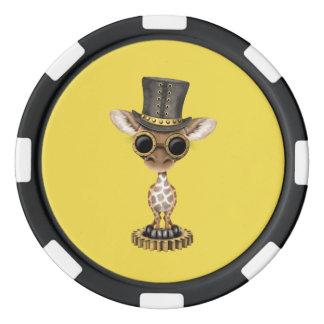 Cute Steampunk Baby Giraffe Poker Chips