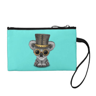 Cute Steampunk Baby Koala Bear Coin Purse