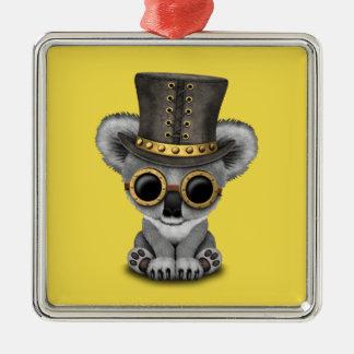 Cute Steampunk Baby Koala Bear Metal Ornament