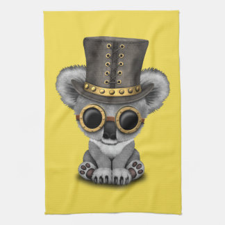 Cute Steampunk Baby Koala Bear Tea Towel