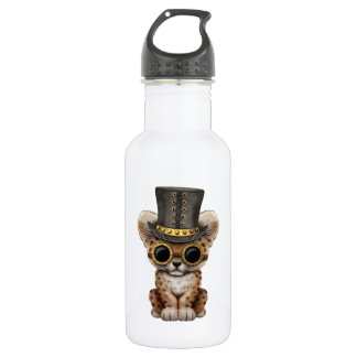 Cute Steampunk Baby Leopard Cub 532 Ml Water Bottle