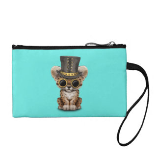 Cute Steampunk Baby Leopard Cub Coin Purse
