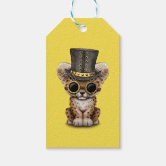 Cute Steampunk Baby Leopard Cub Gift Tags