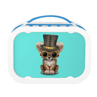 Cute Steampunk Baby Leopard Cub Lunchboxes