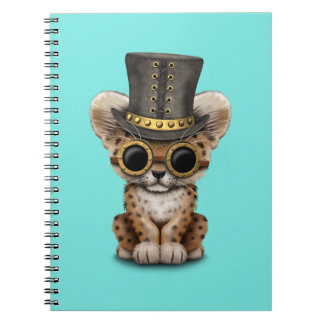 Cute Steampunk Baby Leopard Cub Notebook