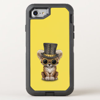 Cute Steampunk Baby Leopard Cub OtterBox Defender iPhone 8/7 Case