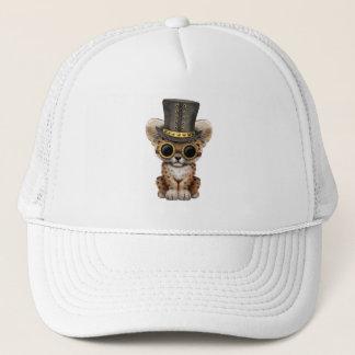 Cute Steampunk Baby Leopard Cub Trucker Hat