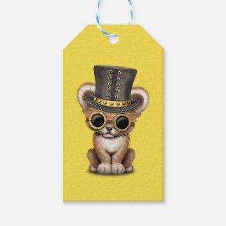 Cute Steampunk Baby Lion Cub Gift Tags
