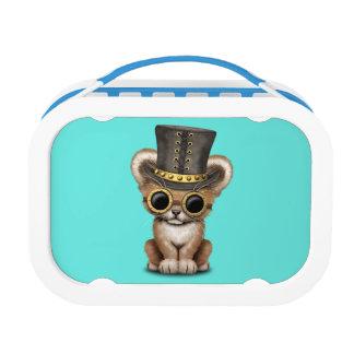 Cute Steampunk Baby Lion Cub Lunch Box