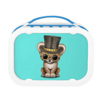 Cute Steampunk Baby Lion Cub Lunchboxes
