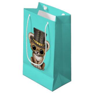 Cute Steampunk Baby Lion Cub Small Gift Bag