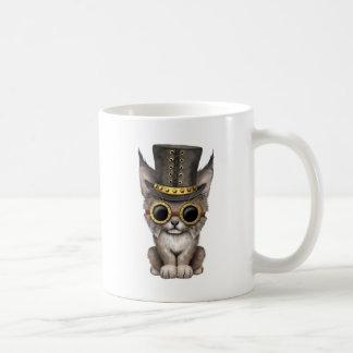 Cute Steampunk Baby Lynx Cub Coffee Mug