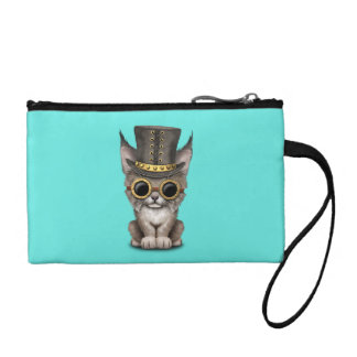 Cute Steampunk Baby Lynx Cub Coin Purse