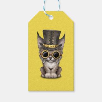 Cute Steampunk Baby Lynx Cub Gift Tags