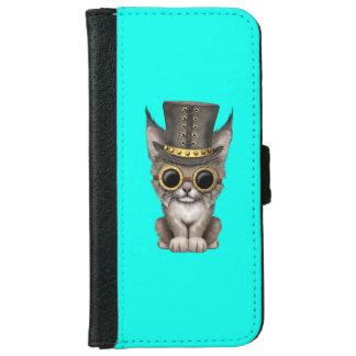 Cute Steampunk Baby Lynx Cub iPhone 6 Wallet Case