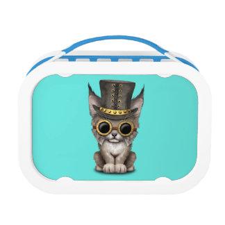 Cute Steampunk Baby Lynx Cub Lunch Box