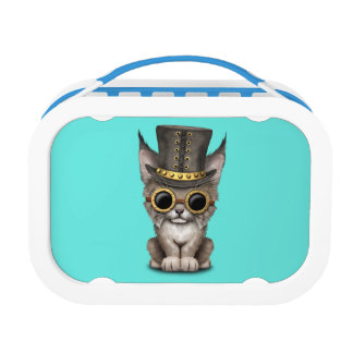 Cute Steampunk Baby Lynx Cub Lunchbox