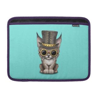 Cute Steampunk Baby Lynx Cub MacBook Sleeve
