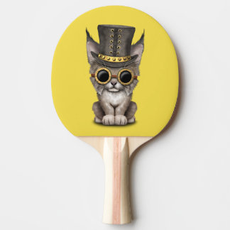 Cute Steampunk Baby Lynx Cub Ping Pong Paddle