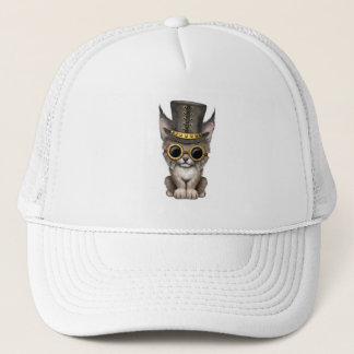 Cute Steampunk Baby Lynx Cub Trucker Hat
