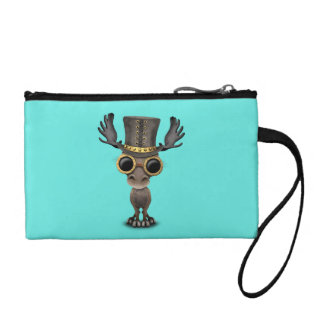Cute Steampunk Baby Moose Coin Purse