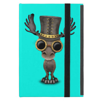 Cute Steampunk Baby Moose Cover For iPad Mini