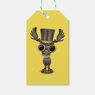 Cute Steampunk Baby Moose Gift Tags