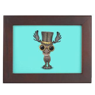 Cute Steampunk Baby Moose Keepsake Box
