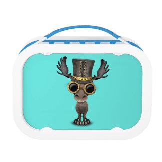 Cute Steampunk Baby Moose Lunch Box