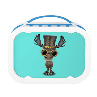 Cute Steampunk Baby Moose Lunchbox